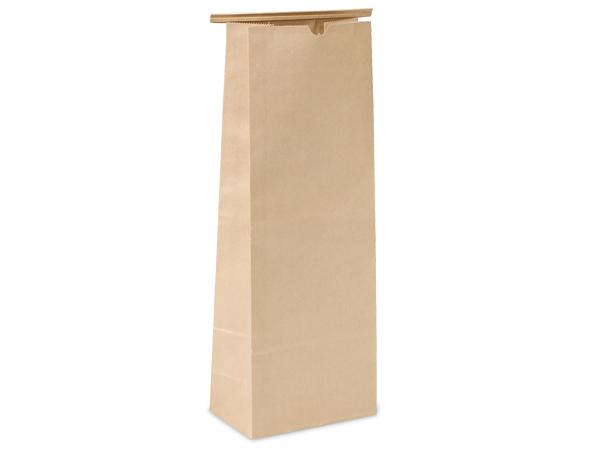 "500 5 lb Kraft Tin Tie Coffee Bags 6-1/2""x4""x18"""