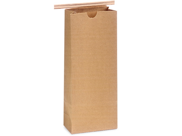 1000 Paper Lined 1/2 lb Coffee Bags 3-3/8x2-1/2x7-3/4""