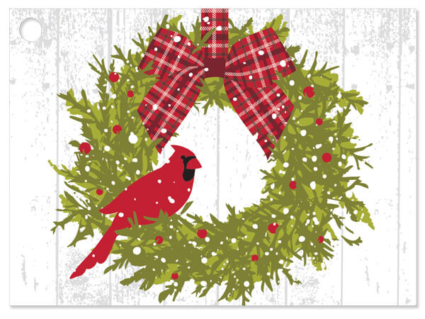 Christmas Plaid Cardinal Gift Card
