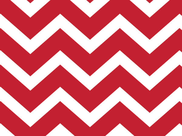 "**Chevron Red Cello Roll, 30""x100'"
