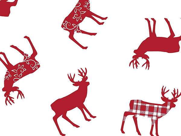 Deer Red Plaid Cello Bags & Rolls