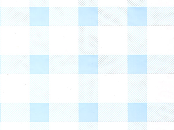 "Light Blue Gingham Cello Roll, 30""x100'"