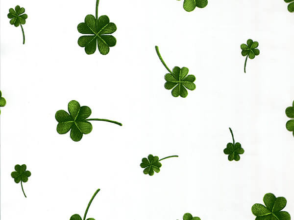 "Lucky Shamrock Clover Cello Roll, 30""x100'"