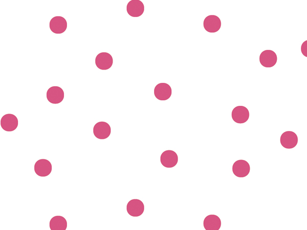 """Large Hot Pink Dots Cello Roll, 30""""x100'"""