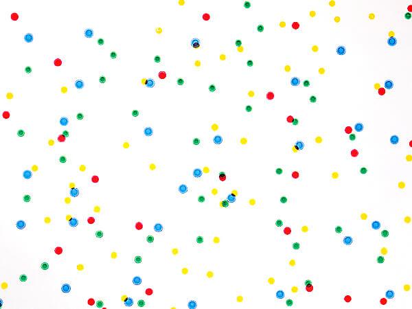 """Primary Dots Cello Roll, 30""""x100'"""