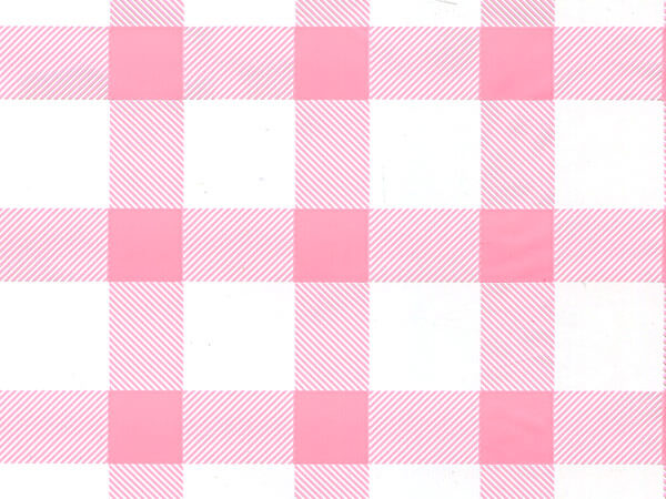 "Pink Gingham Cello Roll, 30""x100'"