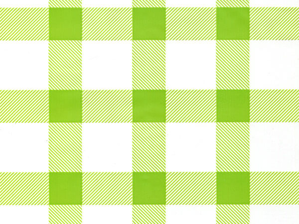 """Spring Green Gingham Cello Roll, 30""""x100'"""