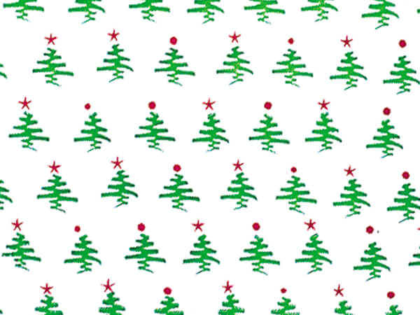 "Holiday Tree Cello Roll, 40""x100'"