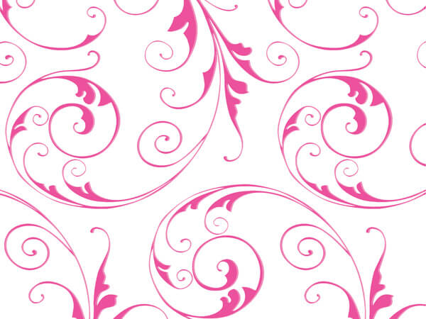 """*Jewel Swirl Frosted Pink Cello Roll, 40""""x100'"""