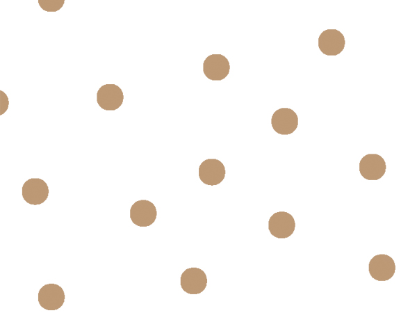 """Large Gold Dots Cello Roll, 40""""x100'"""