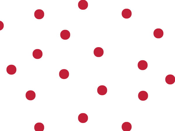 "Large Red Dots Cello Roll, 40""x100'"