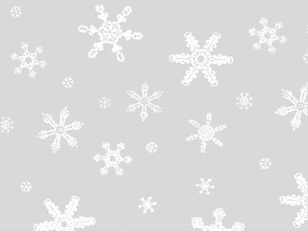 """Snowflakes Cello Roll, 40""""x100'"""