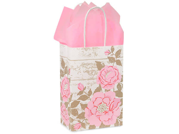 Rose Cottage Rose Garden Paper Bags 250 5-1/2x3-1/4x8-3/8""