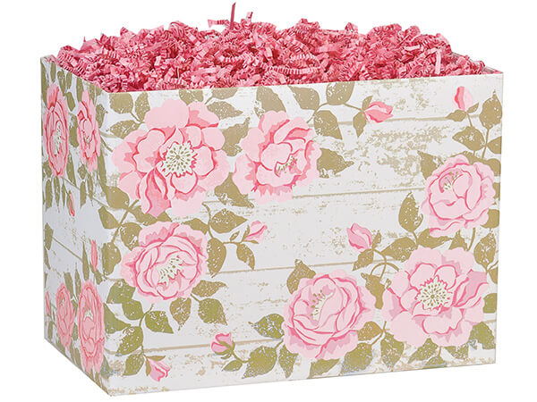 Large Cottage Rose Garden Basket Boxes 10-1/4x6x7-1/2""