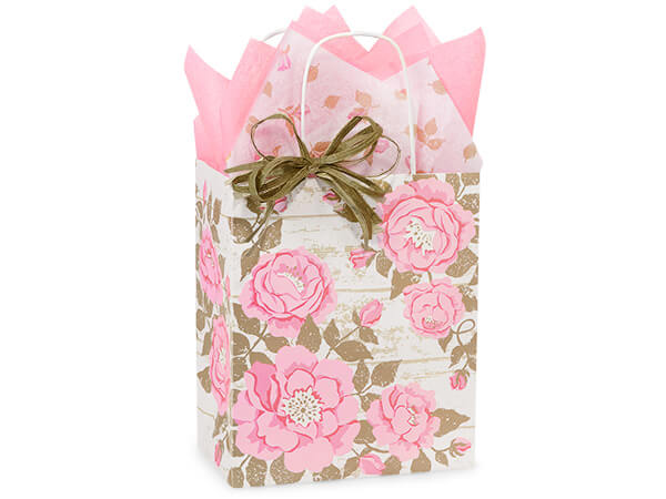 Cub Cottage Rose Garden Bags 25 Pk 8x4-3/4x10-1/4""