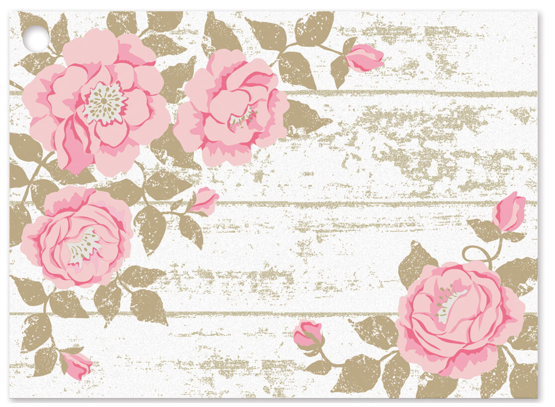Cottage Rose Garden Gift Cards 3-3/4x2-3/4""