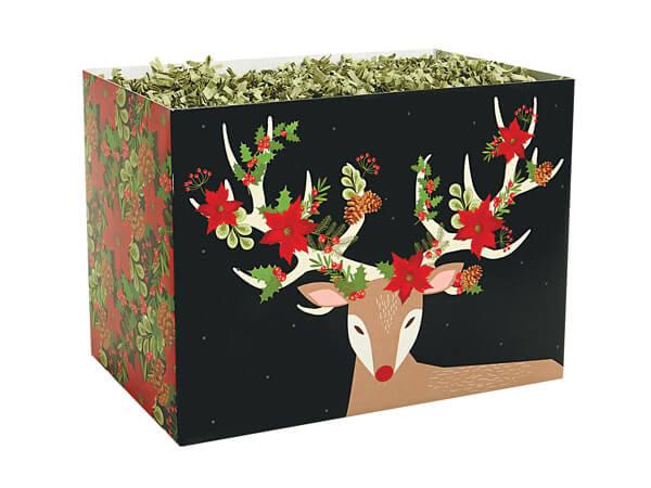 "Christmas Reindeer Basket Box, Small 6.75x4x5"", 6 Pack"