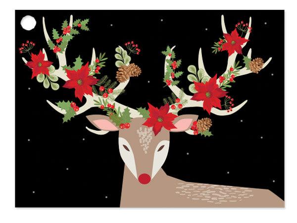 Red Christmas Reindeer Card