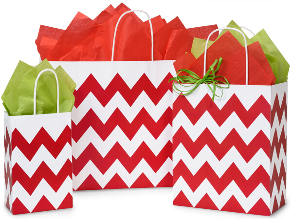Red Chevron Bag Assortment 50 Rose, 50 Cub, 25 Vogue