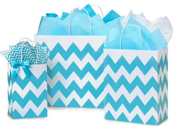 Turquoise Chevron Bag Assort 50 Rose, 50 Cub, 25 Vogue