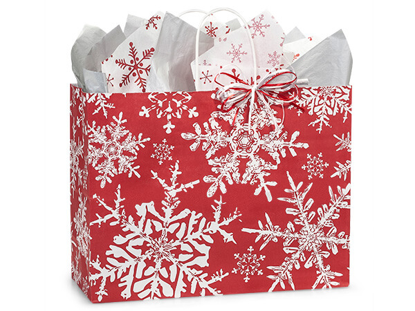 Vogue Christmas Snowflakes Red 250 16x6x12-1/2""