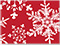Christmas Snowflake Red