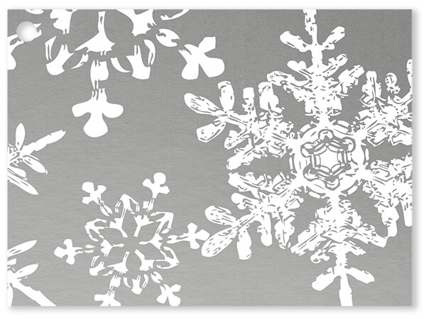 Christmas Snowflakes Silver Card