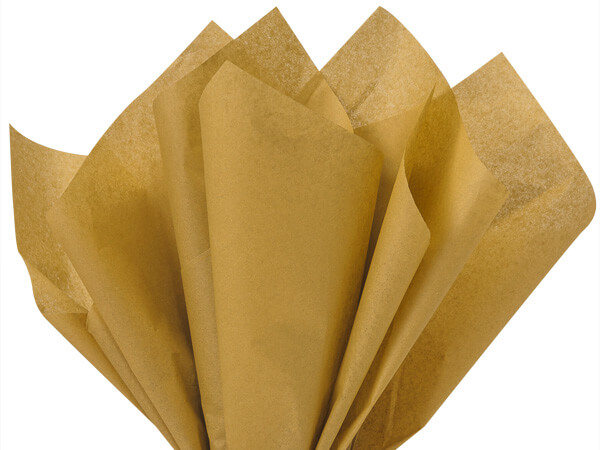 "Antique Gold Color Tissue Paper, 15x20"", Bulk 480 Sheet Pack"