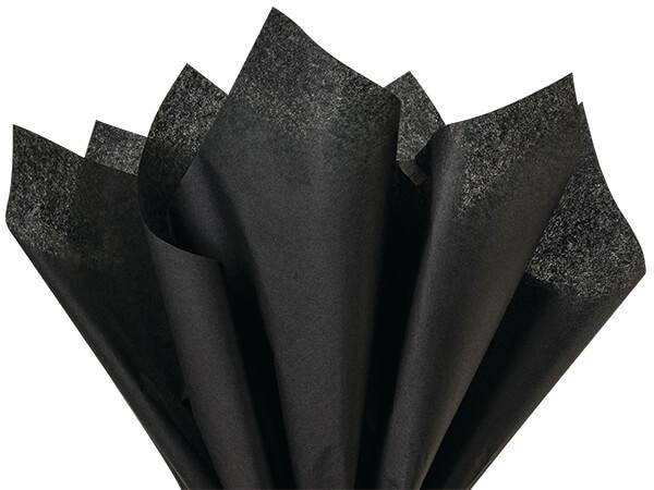 "Black Color Tissue Paper, 15x20"", Bulk 480 Sheet Pack"