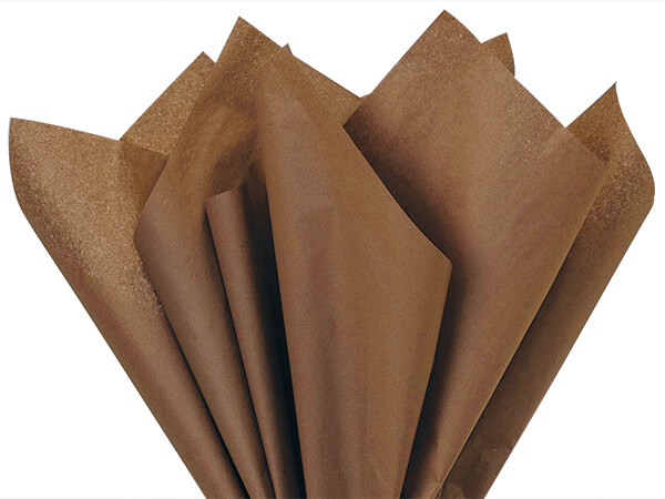 """Chocolate Color Tissue Paper, 15x20"""", Bulk 480 Sheet Pack"""