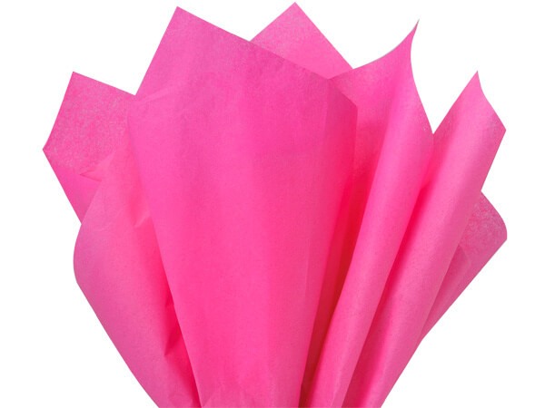 "Hot Pink Color Tissue Paper, 15x20"", Bulk 480 Sheet Pack"