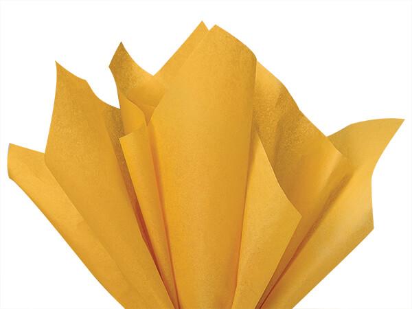 "*Noble Gold Color Tissue Paper, 15x20"", Bulk 480 Sheet Pack"