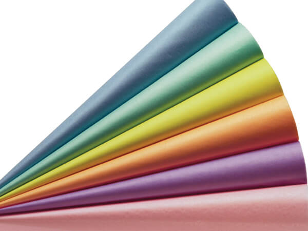 "Pastel Tissue Paper Assortment 15x20"", Bulk 576 Sheet Pack"