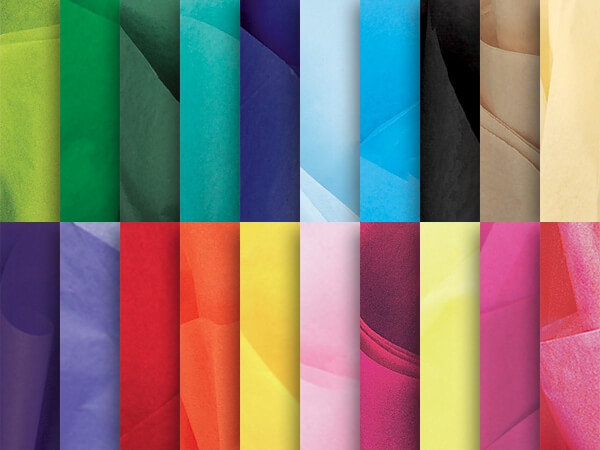 "20 Color Tissue Assortment, 20x26"", Bulk 480 Sheet Pack"