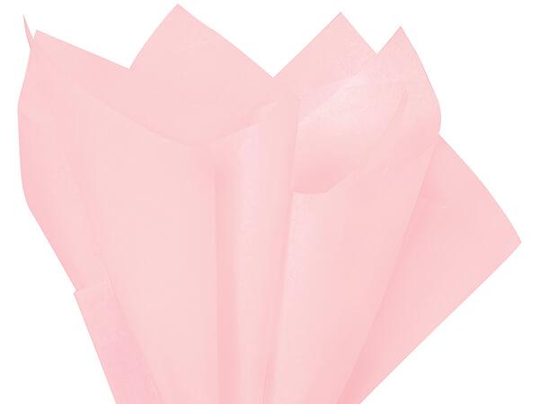 "Blush Pink Color Tissue Paper, 20x26"", Bulk 480 Sheet Pack"