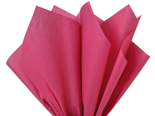 "Cerise Pink Color Tissue Paper, 20x26"", Bulk 480 Sheet Pack"
