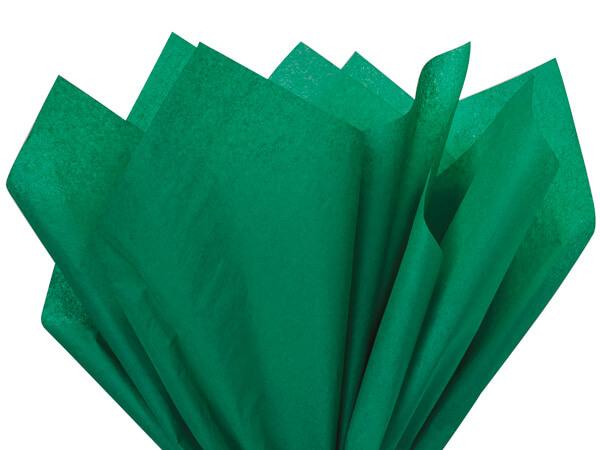 "Emerald Green Color Tissue Paper, 20x26"", Bulk 480 Sheet Pack"