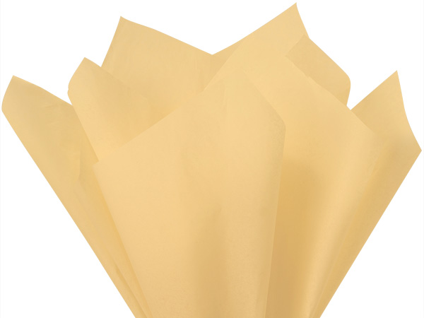 "French Vanilla Color Tissue Paper, 20x26"", Bulk 480 Sheet Pack"