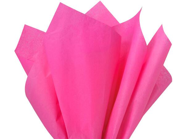 "Hot Pink Color Tissue Paper, 20x26"", Bulk 240 Sheet Pack"