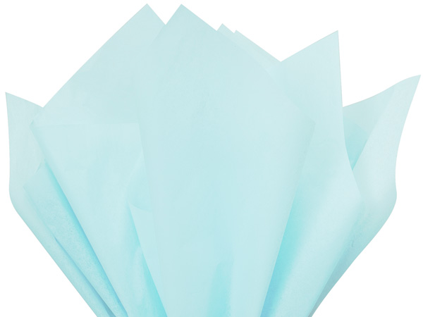 "Light Blue Color Tissue Paper, 20x26"", Bulk 480 Sheet Pack"