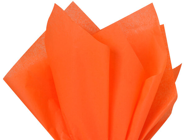 "Orange Color Tissue Paper, 20x26"", Bulk 480 Sheet Pack"