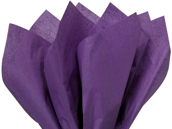 "Purple Color Tissue Paper, 20x26"", Bulk 480 Sheet Pack"