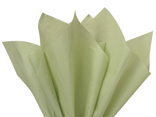 """Sage Jade Green Color Tissue Paper, 20x26"""", Bulk 480 Sheet Pack"""