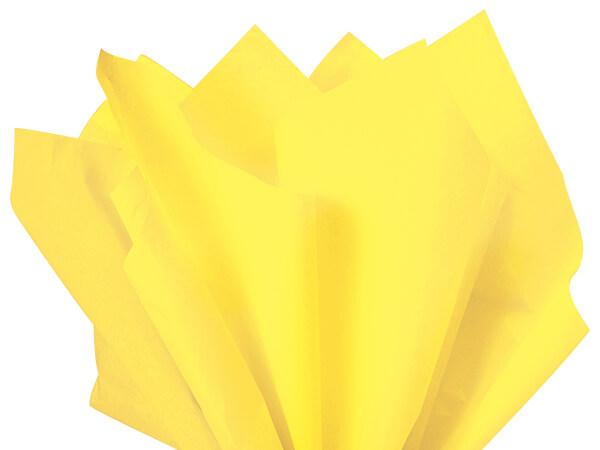 "Light Yellow Color Tissue Paper, 20x26"", Bulk 480 Sheet Pack"