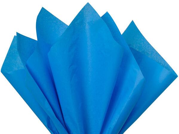 """Brilliant Blue Color Tissue Paper, 20x30"""", Bulk 480 Sheet Pack"""
