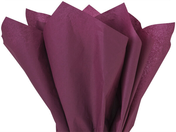 "Burgundy Tissue Paper 20x30"" 480 Sheet Ream"
