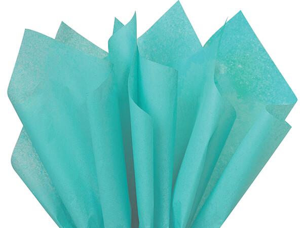 "Caribbean Teal Color Tissue Paper, 20x30"", Bulk 480 Sheet Pack"