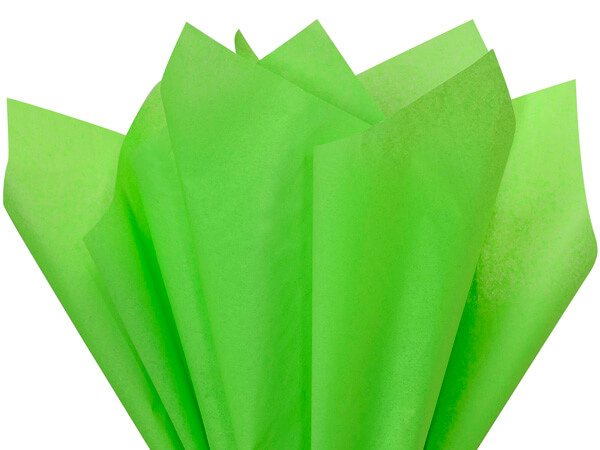 "Groovy Green Color Tissue Paper, 20x30"", Bulk 480 Sheet Pack"