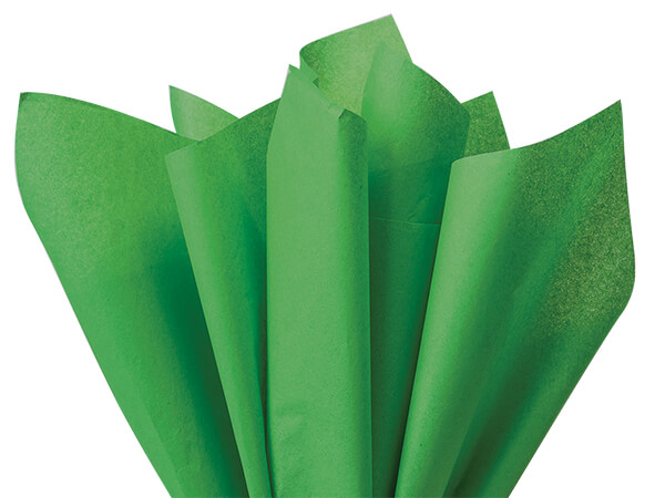 "Kelly Dark Green Color Tissue Paper 20x30"", Bulk 480 Sheet Pack"
