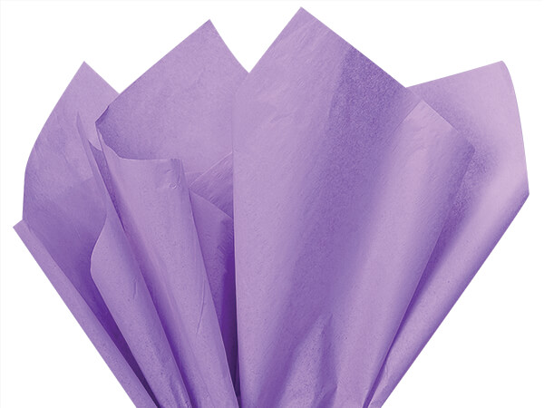 "Soft Lavender Color Tissue Paper, 20x30"", Bulk 480 Sheet Pack"
